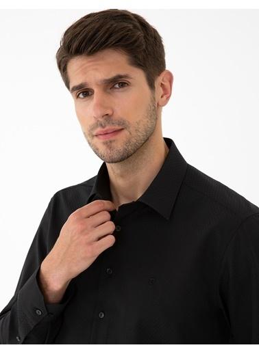 Pierre Cardin G021Gl004.000.1294438.Vr046 Gömlek Uzunk Siyah